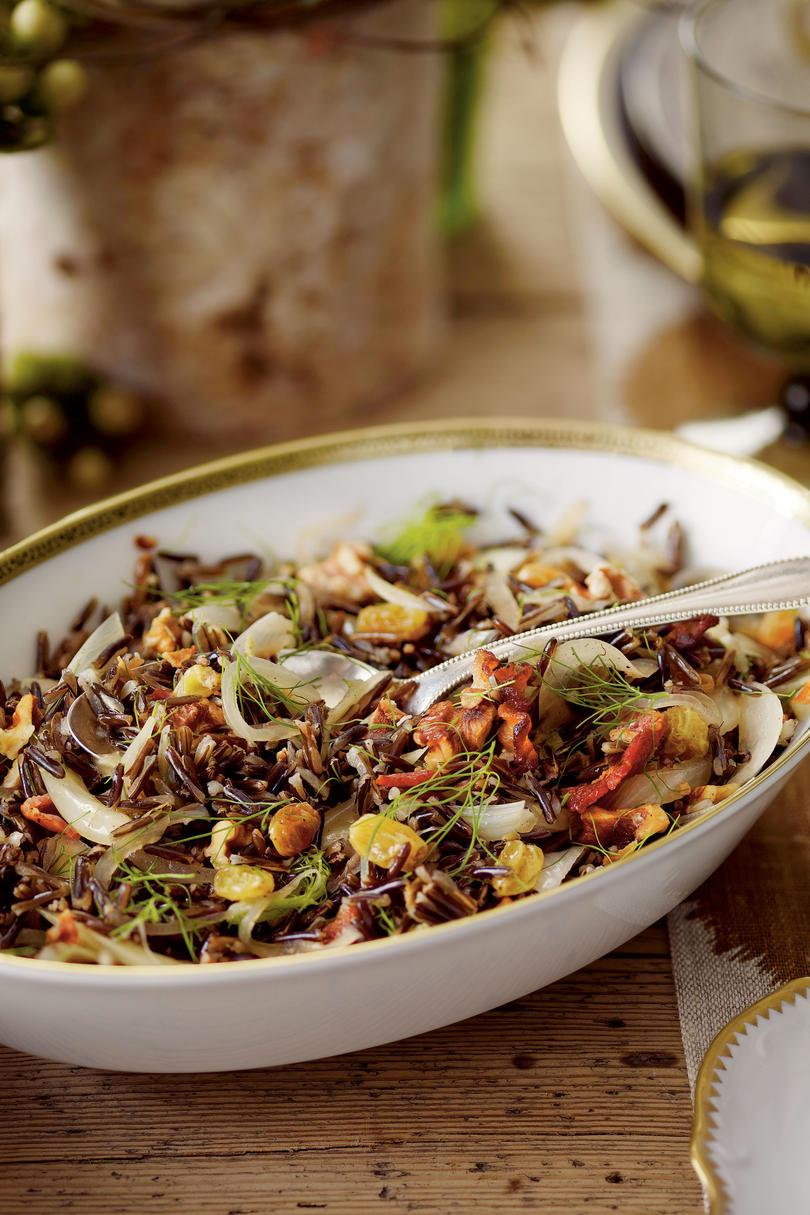 بري Rice with Bacon and Fennel