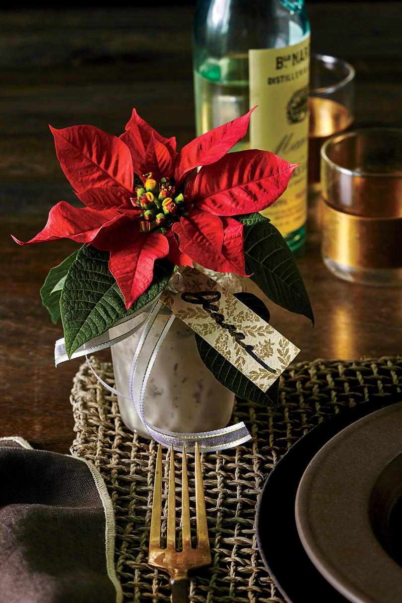 Personlig Poinsettia Party Favor
