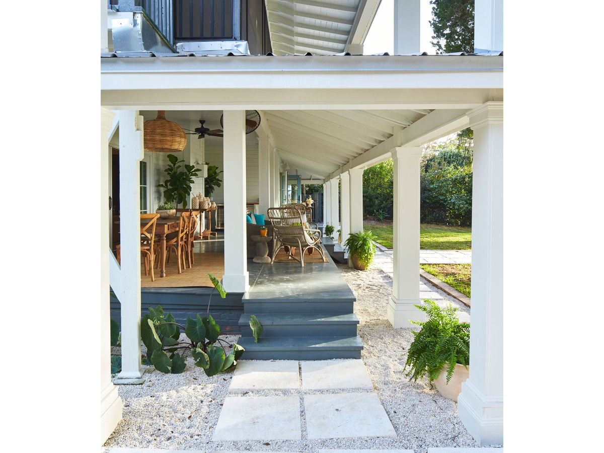 Fairhope Bay House with Two Story Rain Porch