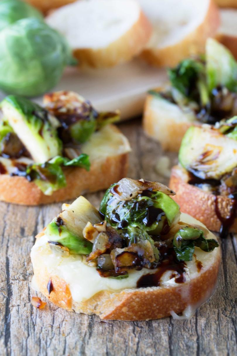 Bruxelles Sprouts and Brie Bruschetta