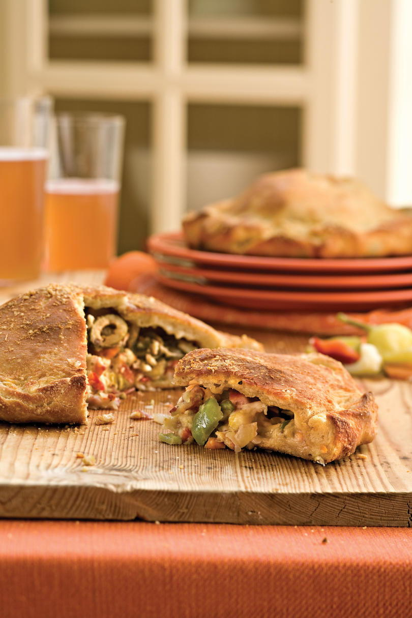 ケイジャン Recipes: Muffuletta Calzones