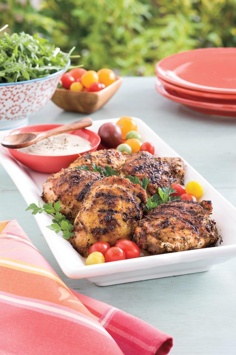 четвърти of July Menu: Grilled Chicken Thighs with White Barbecue Sauce