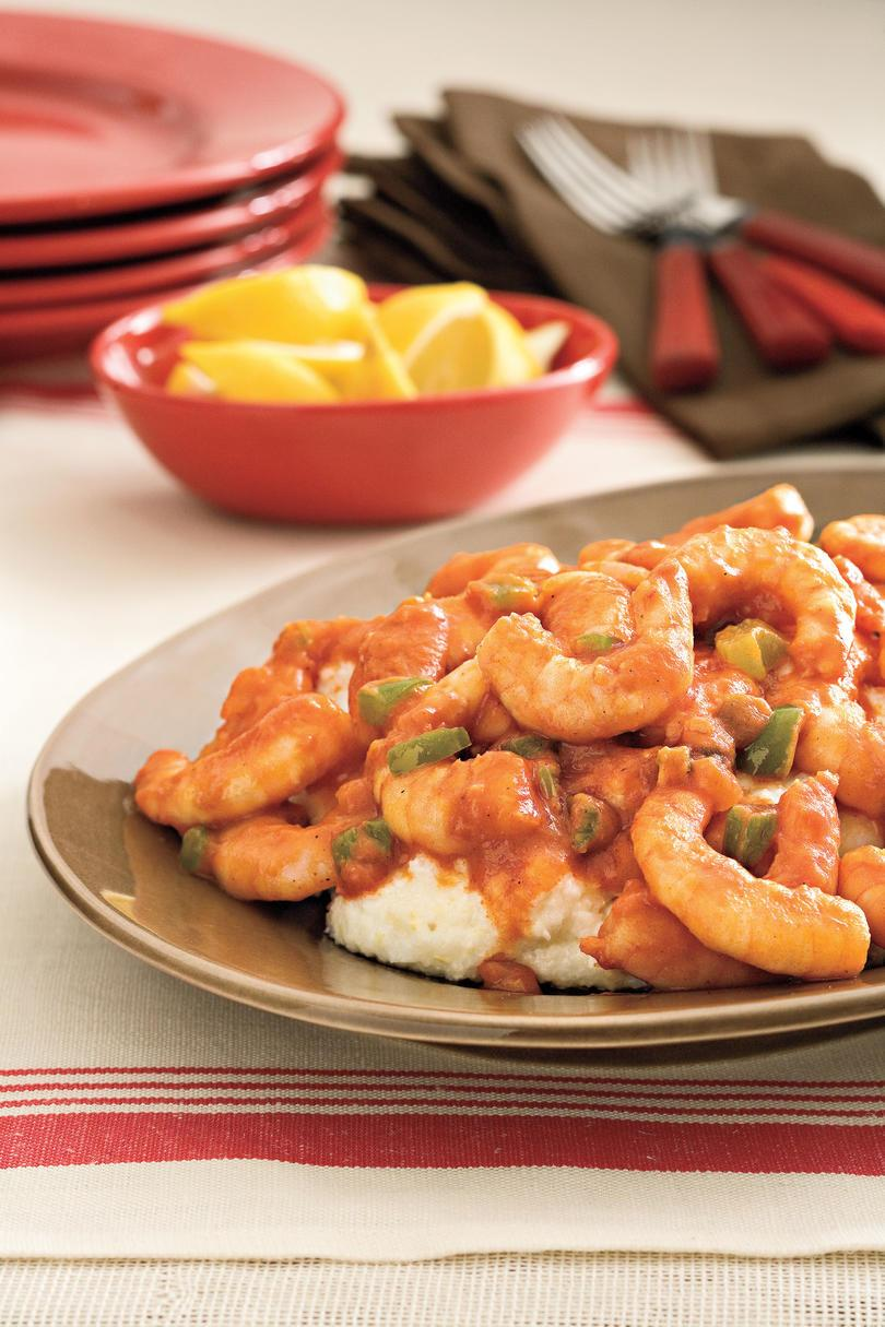 ケイジャン Recipes: Creole Shrimp and Grits