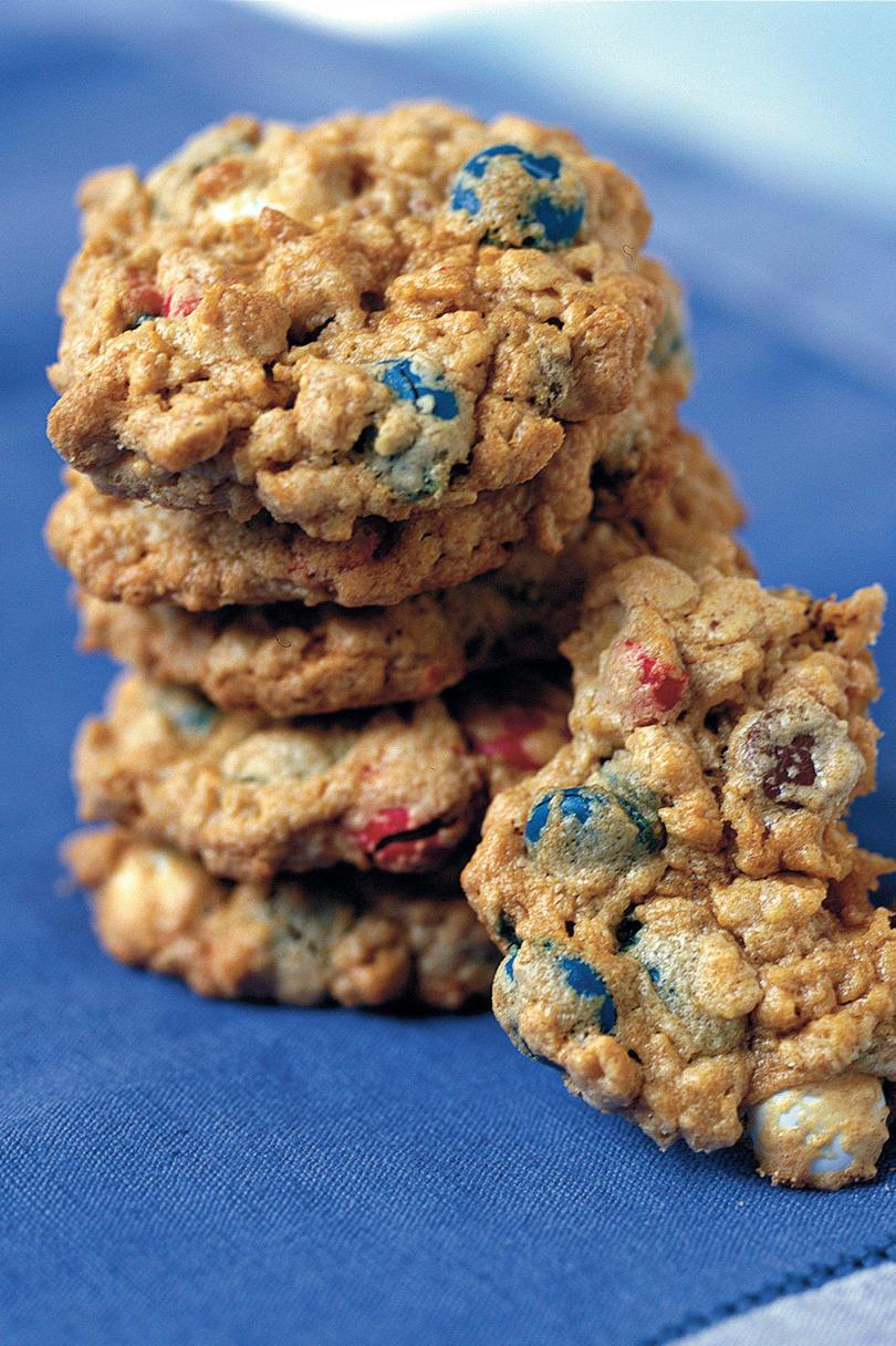 четвърти of July Menu: Chewy Red, White, and Blue Cookies