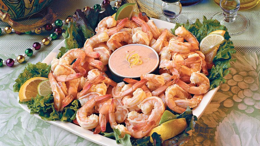 ケイジャン Recipes: Citrus-Marinated Shrimp with Louis Sauce