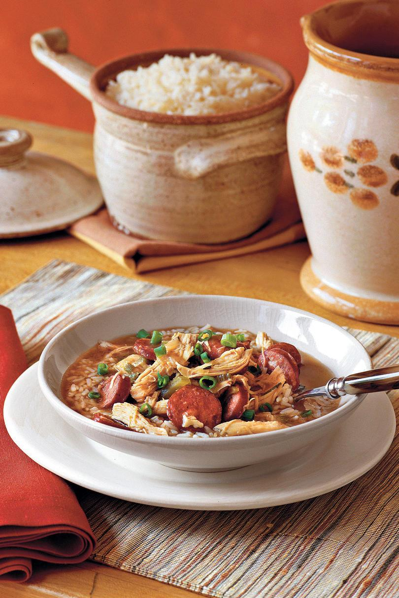 ケイジャン Recipes: Chicken-and-Sausage Gumbo