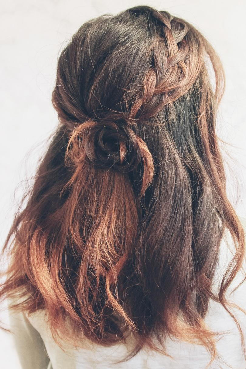 Half-Up Flower Braid