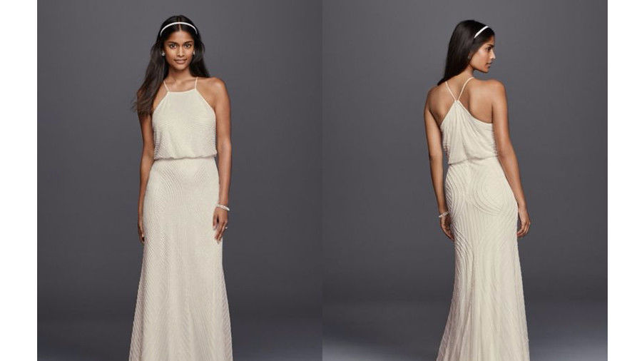 ホルター Sheath Casual Wedding Dress