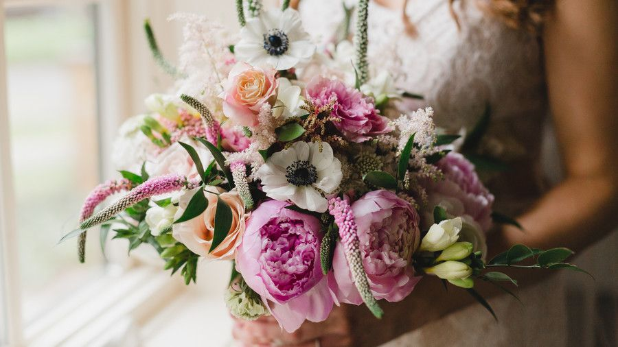 Ярък Springtime Wedding Bouquet