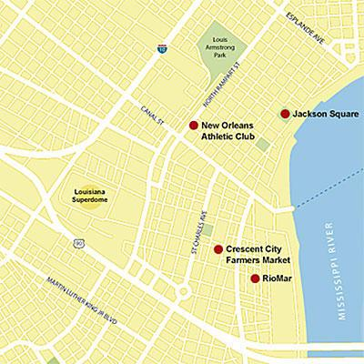 Ny Orleans Vacations: New Orleans map
