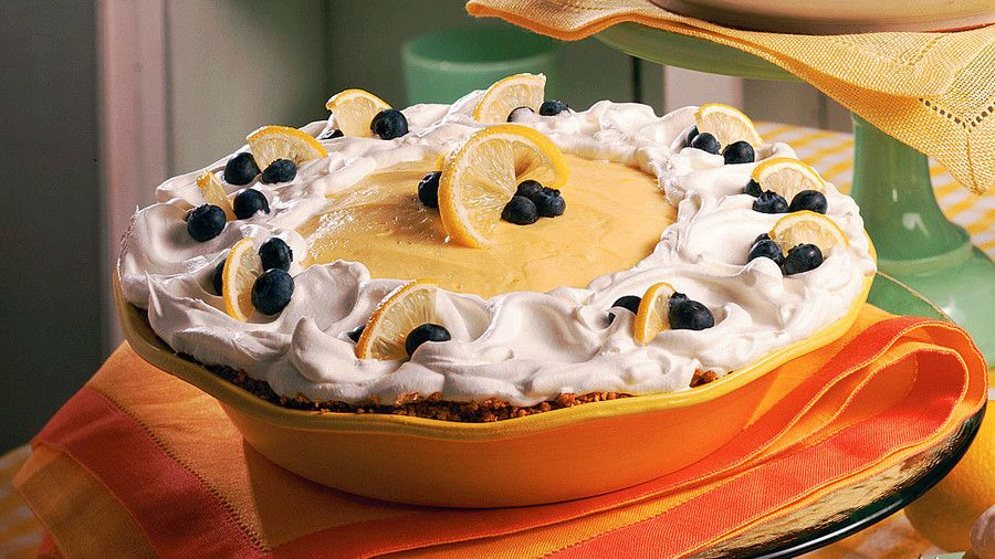 父's Day Recipe Ideas: Lemon-Blueberry Cream Pie