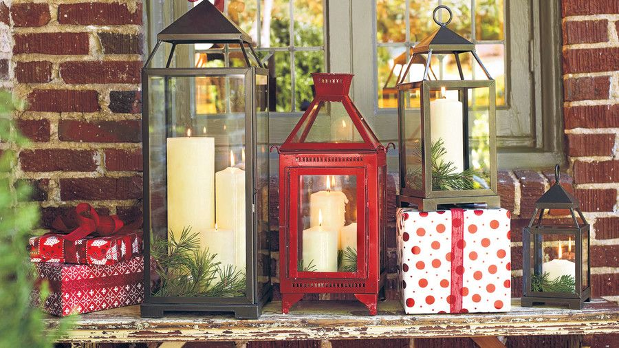 Коледа Decorating Ideas: Lanterns