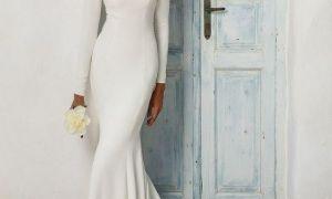 Nádherné dlouhý rukáv svatební šaty pro zimní nevěsty