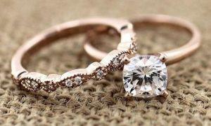 Doutnavé růžové zlaté zásnubní prsteny