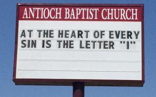 あなたが见なければならないばかげた面白い教会のサイン