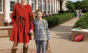 الأم ابنة النمط: تبدو خمر للعودة إلى المدرسة